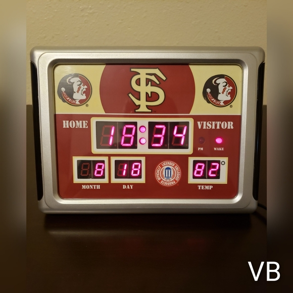 none Other - Florida State Seminoles FSU Scoreboard Alarm Clock